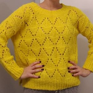 Anthropologie Yellow Knit Sweater